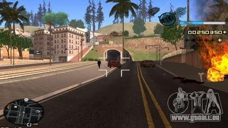 C-HUD Blue pour GTA San Andreas quatrième écran