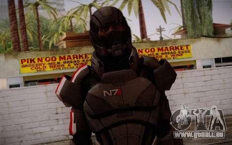Shepard Default N7 from Mass Effect 3 pour GTA San Andreas troisième écran