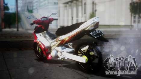 Yamaha Jupiter Mx pour GTA San Andreas sur la vue arrière gauche