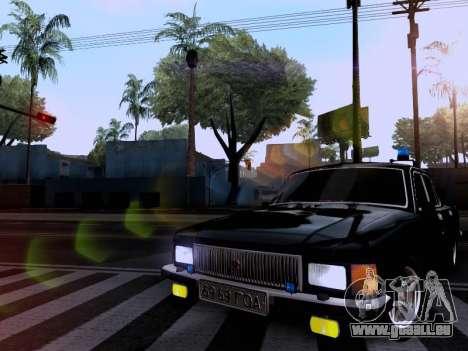 GAZ Wolga 3102 für GTA San Andreas Rückansicht