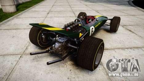 Lotus Type 49 1967 [RIV] PJ5-6 für GTA 4 hinten links Ansicht
