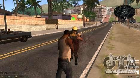 C-HUD Blue pour GTA San Andreas deuxième écran
