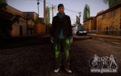 Aiden Pearce from Watch Dogs v9 für GTA San Andreas