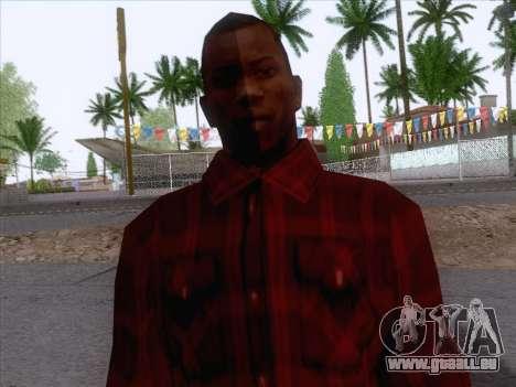 New Fam Skin 1 pour GTA San Andreas troisième écran