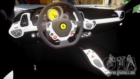 Ferrari 458 Italia 2010 v3.0 Sharpie pour GTA 4 est une vue de l'intérieur