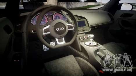 Audi R8 plus 2013 HRE rims Sharpie pour GTA 4 est un côté