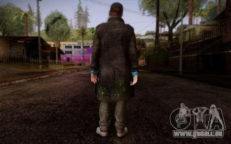 Aiden Pearce from Watch Dogs v9 pour GTA San Andreas deuxième écran