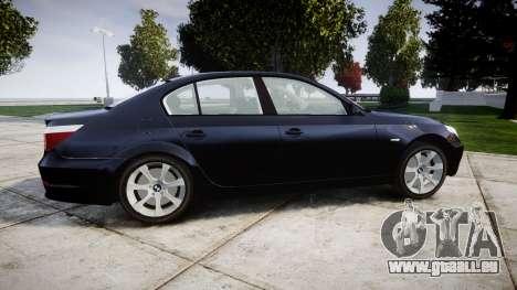 BMW 525d E60 2009 Police [ELS] Unmarked pour GTA 4 est une gauche
