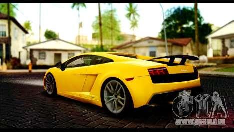 Lamborghini Gallardo LP 570-4 pour GTA San Andreas laissé vue