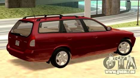 Daewoo Nubira I Kombi CDX US 1999 für GTA San Andreas zurück linke Ansicht