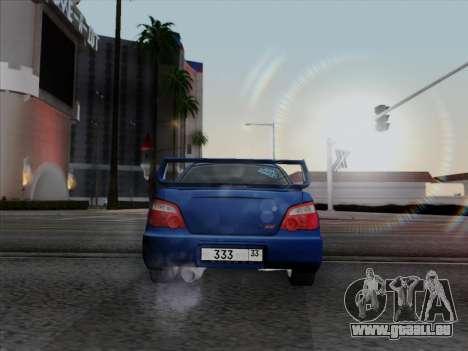 Subaru impreza WRX STI 2004 pour GTA San Andreas laissé vue