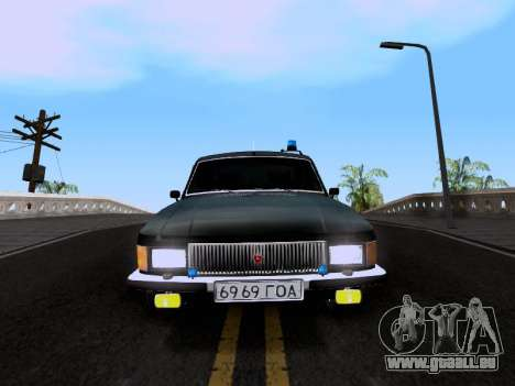 GAZ Volga 3102 pour GTA San Andreas sur la vue arrière gauche