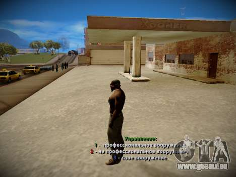 Système vols v4.0 pour GTA San Andreas quatrième écran