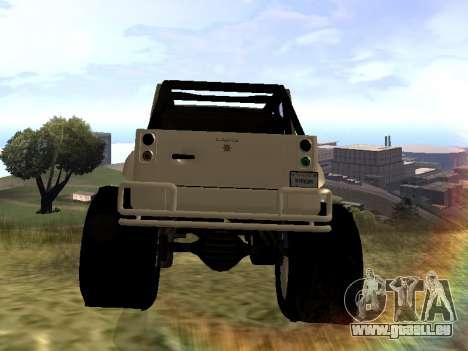GTA 5 Mesa MerryWeather version pour GTA San Andreas sur la vue arrière gauche