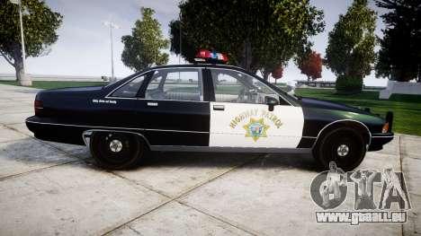 Chevrolet Caprice 1991 Highway Patrol [ELS] pour GTA 4 est une gauche