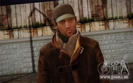 Aiden Pearce from Watch Dogs v11 pour GTA San Andreas troisième écran