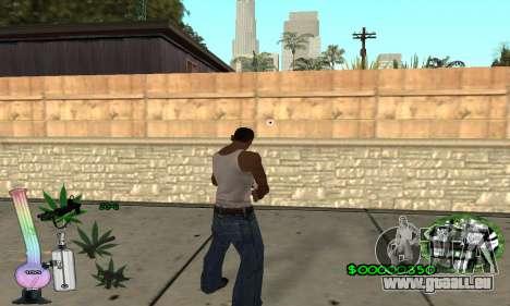 C-HUD Canabis pour GTA San Andreas troisième écran