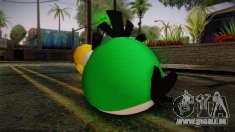 Green Bird from Angry Birds pour GTA San Andreas deuxième écran