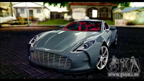 Aston Martin One-77 Red and Black für GTA San Andreas
