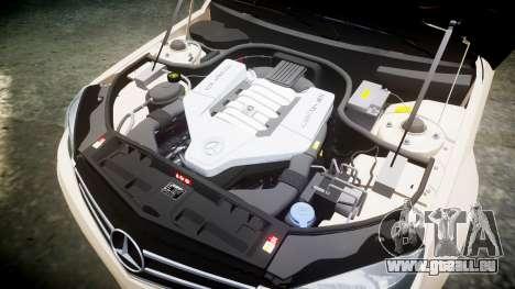 Mercedes-Benz C63 AMG 2010 für GTA 4 Seitenansicht
