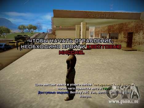 Système vols v4.0 pour GTA San Andreas cinquième écran