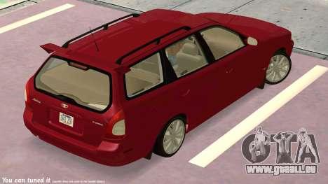 Daewoo Nubira I Kombi CDX US 1999 für GTA San Andreas Seitenansicht