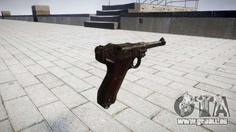 Pistolet Luger P08 pour GTA 4 secondes d'écran