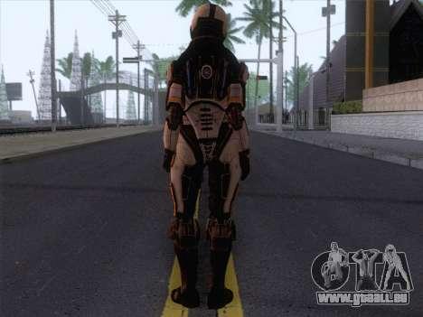 Cerberus Female Armor from Mass Effect 3 pour GTA San Andreas deuxième écran