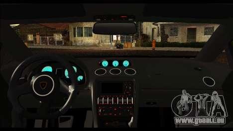 Lamborghini Gallardo LP 570-4 pour GTA San Andreas vue arrière