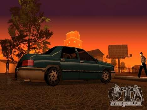 Beta Elegant für GTA San Andreas obere Ansicht