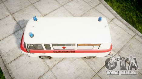 Barkas B1000 1961 Ambulance pour GTA 4 est un droit