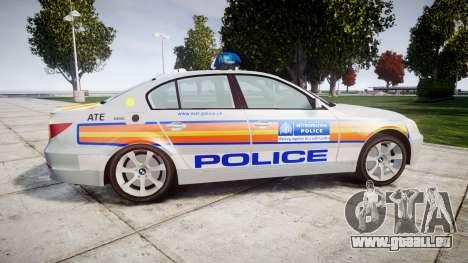 BMW 525d E60 2006 Police [ELS] pour GTA 4 est une gauche
