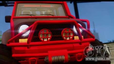 GTA 5 Mesa MerryWeather pour GTA San Andreas sur la vue arrière gauche
