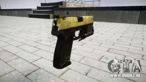 Pistole HK USP 45 olive für GTA 4 Sekunden Bildschirm