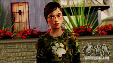 Ellie from The Last Of Us v2 pour GTA San Andreas troisième écran