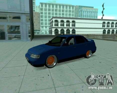 VAZ 2110 Taxi für GTA San Andreas linke Ansicht