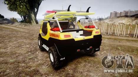 Ford Intruder Lifeguard Beach [ELS] pour GTA 4 Vue arrière de la gauche