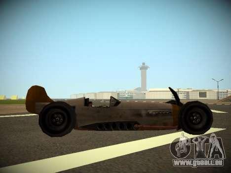 Rustler Tige Bêta pour GTA San Andreas sur la vue arrière gauche