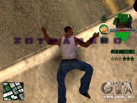 C-HUD Grove Street TAWER pour GTA San Andreas troisième écran