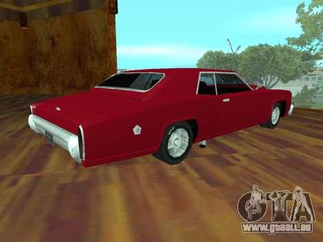 Buccaneer-Turbo für GTA San Andreas Seitenansicht