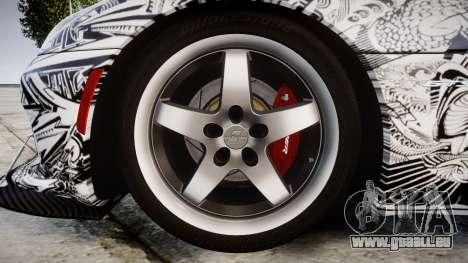 Dodge Viper SRT GTS 2013 Sharpie für GTA 4 Rückansicht