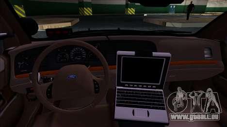 LAPD Ford Crown Victoria Slicktop für GTA San Andreas zurück linke Ansicht