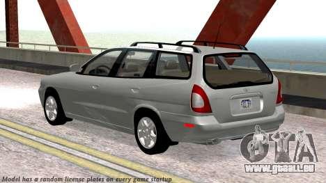 Daewoo Nubira I Kombi CDX US 1999 für GTA San Andreas obere Ansicht