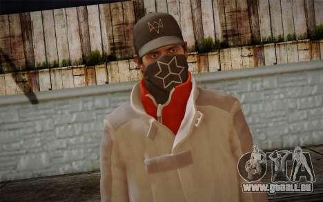 Aiden Pearce from Watch Dogs v1 für GTA San Andreas dritten Screenshot