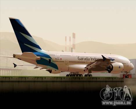 Airbus A380-800 Garuda Indonesia für GTA San Andreas Seitenansicht