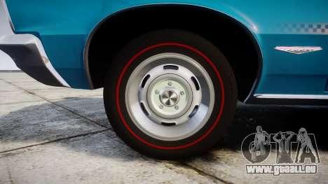 Pontiac GTO 1965 victory cars für GTA 4 Rückansicht