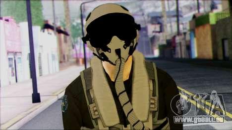 Russian Jet Pilot from Battlefield 4 pour GTA San Andreas troisième écran