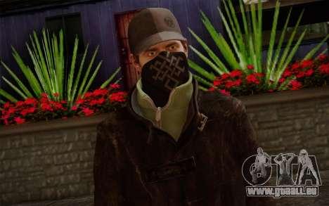 Aiden Pearce from Watch Dogs v2 für GTA San Andreas dritten Screenshot