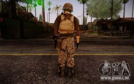 Brady from Battlefield 3 für GTA San Andreas zweiten Screenshot