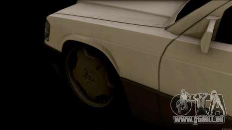 Mercedes-Benz 190E pour GTA San Andreas vue arrière
